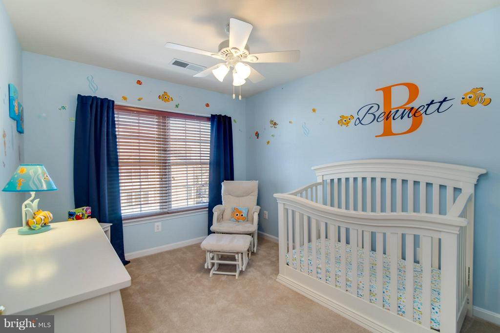 The 2nd bedroom also has light and a ceiling fan! - 9886 SOUNDING SHORE LN, BRISTOW