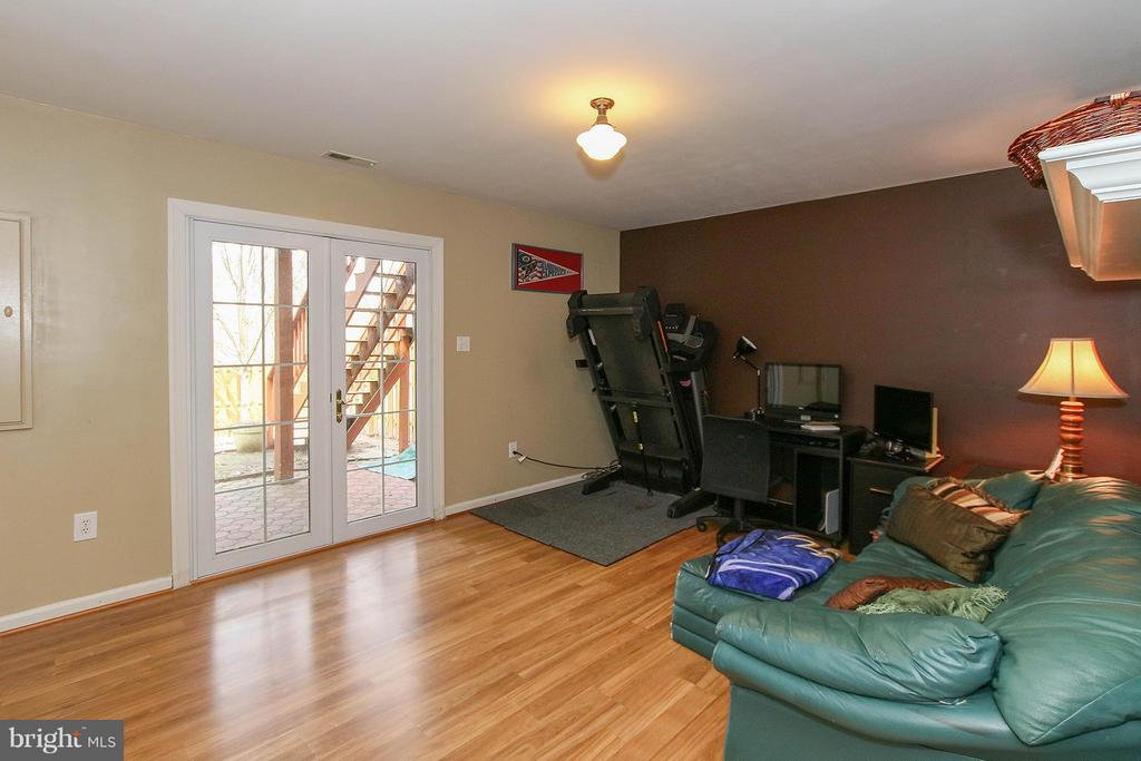 Lower level family room features walk out to yard - 545 RICHMOND SQ NE, LEESBURG