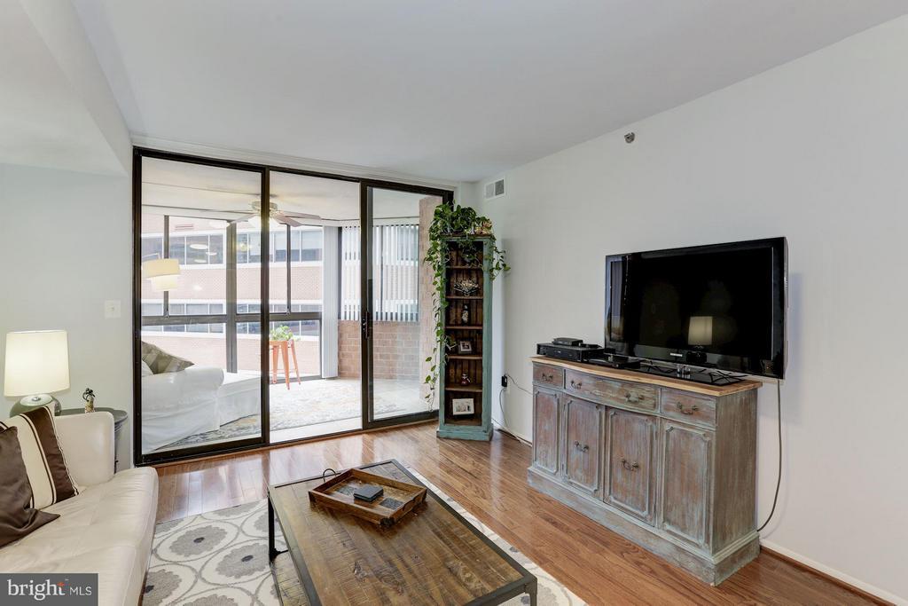 LIVING ROOM - WALL OF WINDOWS, ABUNDANCE of SUN! - 1001 VERMONT ST N #508, ARLINGTON