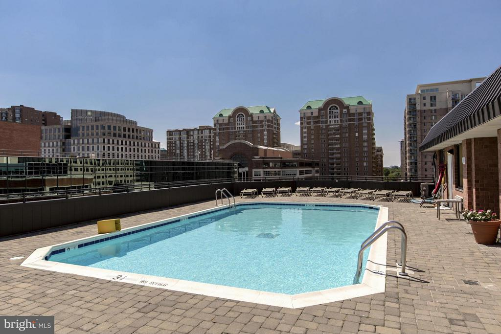ROOFTOP POOL with GORGEOUS VIEWS OF THE CITY! - 1001 VERMONT ST N #508, ARLINGTON