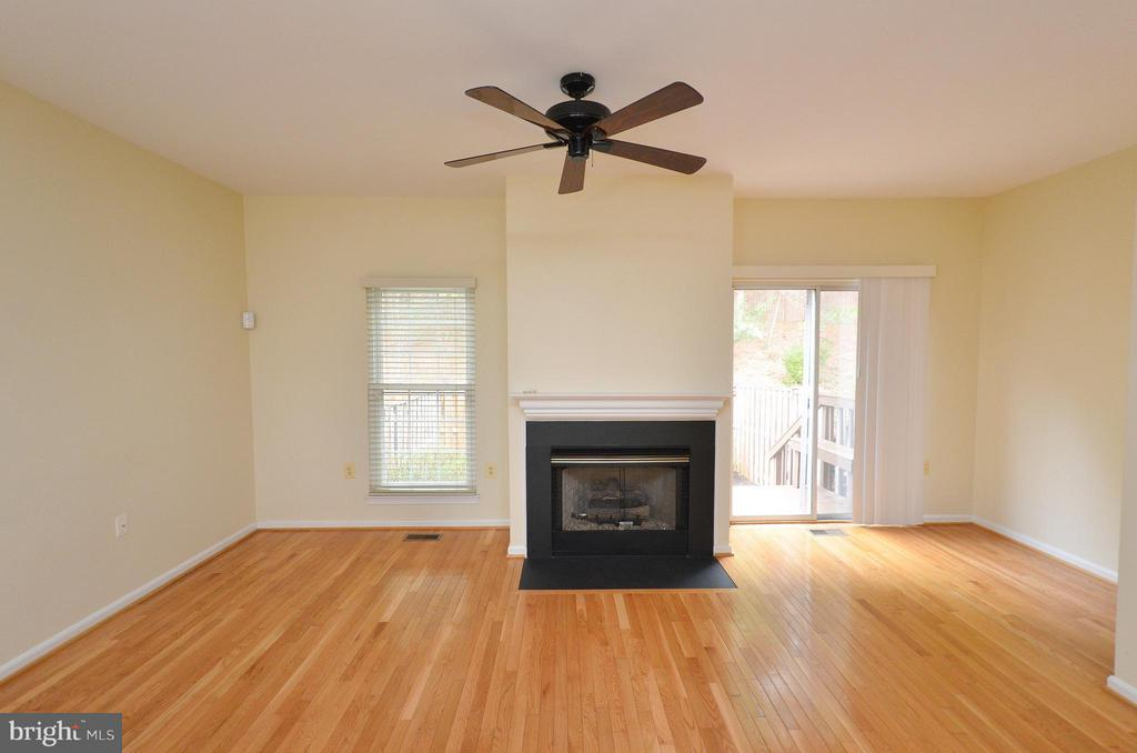 Family Room with Gas Fireplace - 528 BRECKINRIDGE SQ SE, LEESBURG