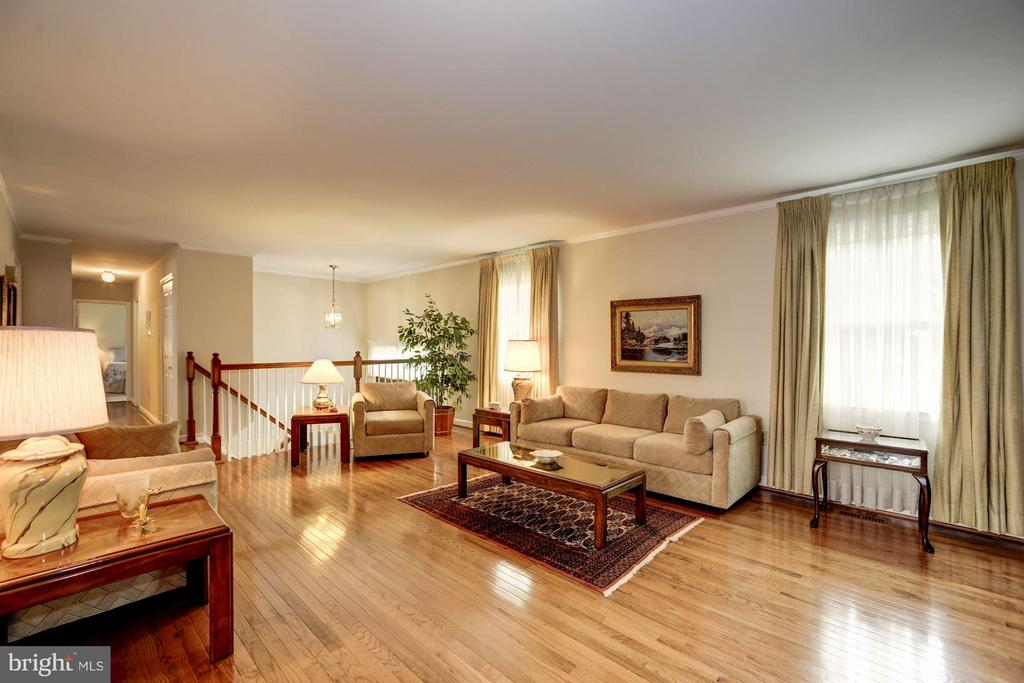 Spacious Living Room with Woodburning Fireplace! - 9324 HEATHER GLEN DR, ALEXANDRIA