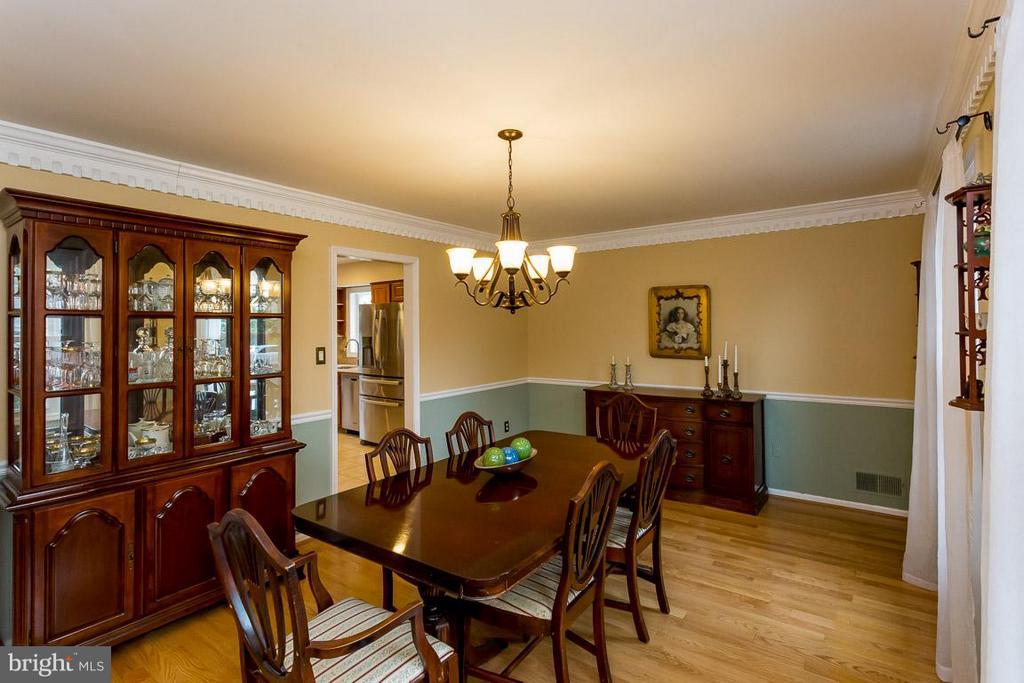 Dining Room with Hardwood Floors - 2527 HEATHCLIFF LN, RESTON