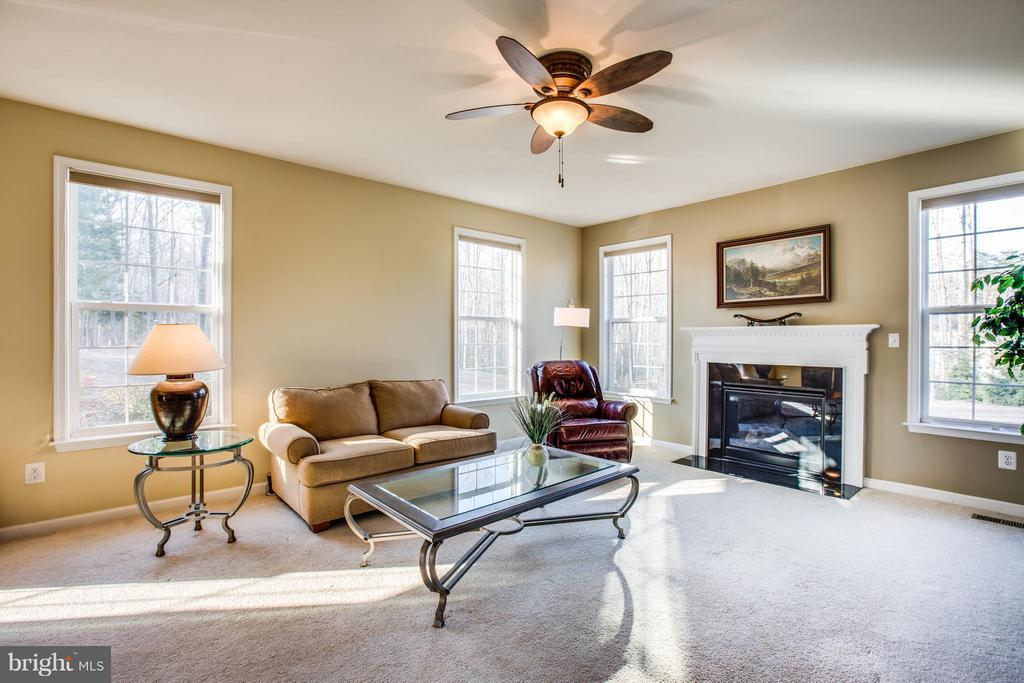 Relax by the fire in the family room off kitchen - 51 JANNEY LN, FREDERICKSBURG