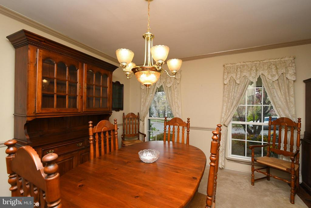 Spacious Dining Room can serve family and guests - 12506 CHARLES STEWART CT, FAIRFAX