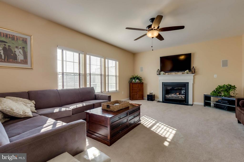 Spacious Family Room with Gas Fireplace - 42402 MADTURKEY RUN PL, CHANTILLY