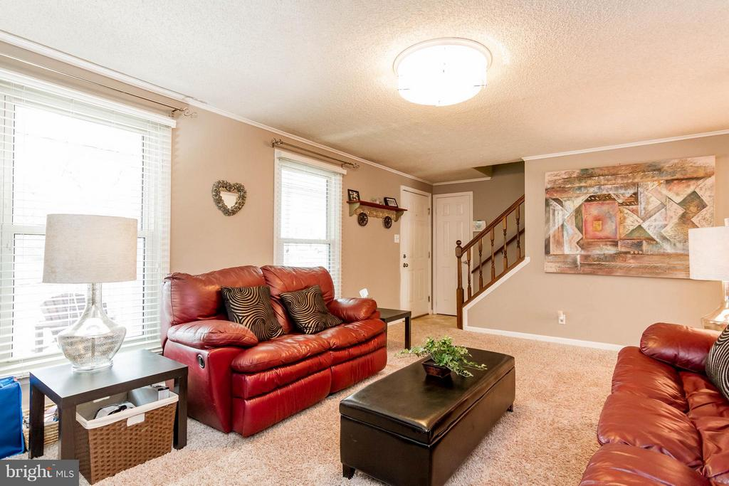 Bright entry into the family room - 18909 RED OAK LN, TRIANGLE