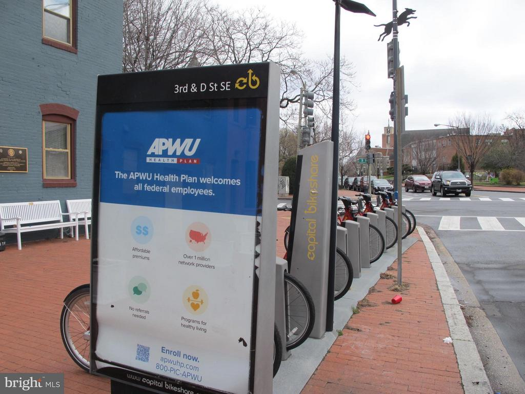 Capitol Bike Share is 1 block away - 116 NORTH CAROLINA AVE SE #204, WASHINGTON