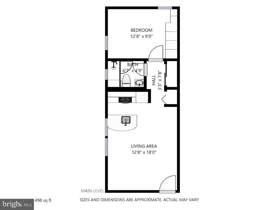 Floorplan w/ Estimated Measurements - 116 NORTH CAROLINA AVE SE #204, WASHINGTON