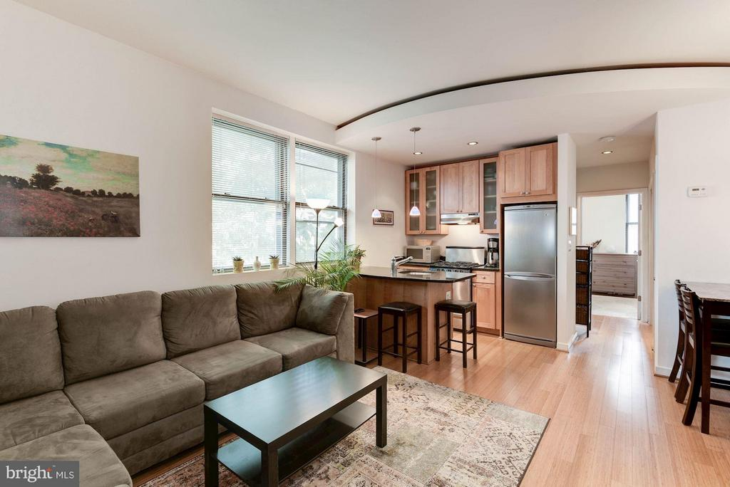 Open Floor Plan with Island Kitchen - 116 NORTH CAROLINA AVE SE #204, WASHINGTON