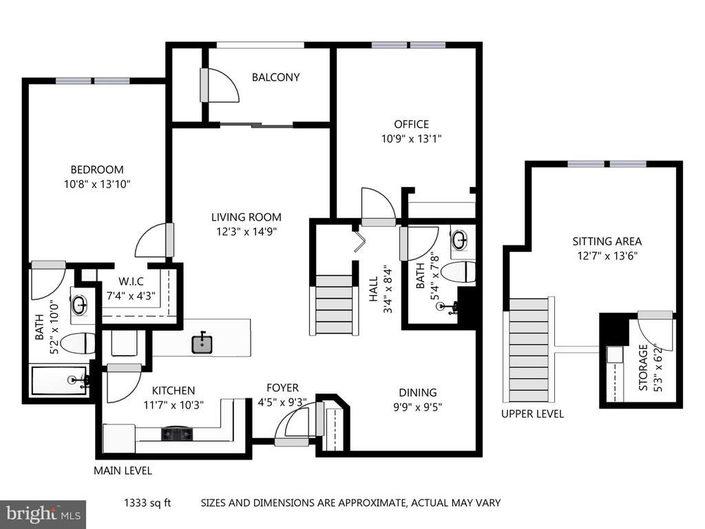 Floor Plan - 801 GREENBRIER ST #408, ARLINGTON