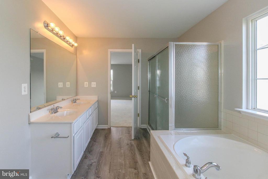 Soaking tub and separate shower - 108 CHARDIN CT, MARTINSBURG