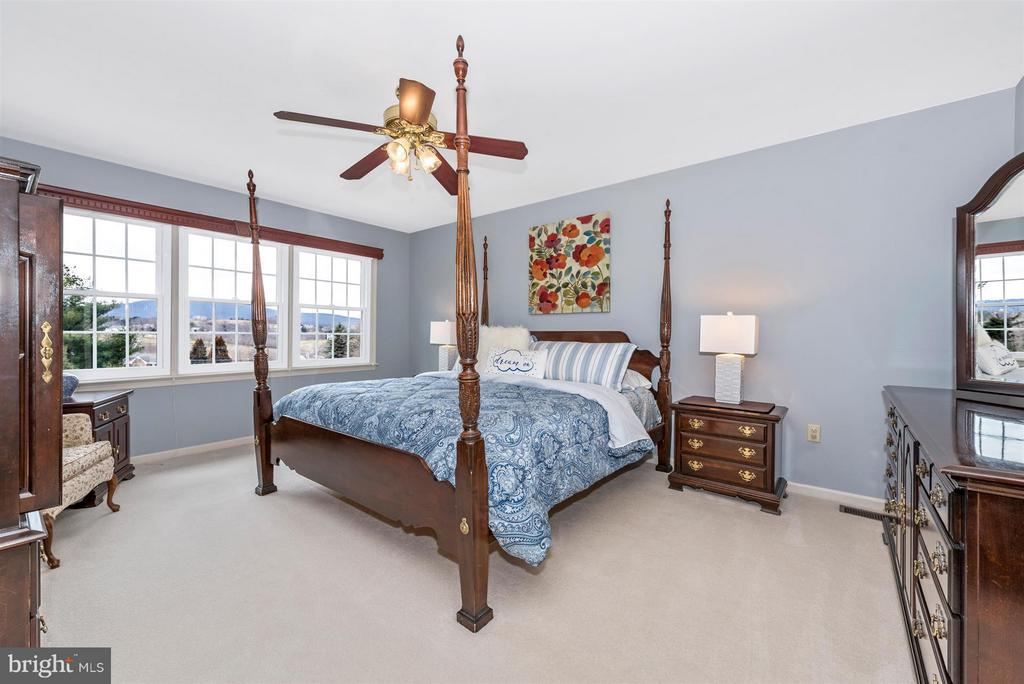 Upstairs master with adjoining master bathroom - 7902 W BROOKRIDGE DR, MIDDLETOWN