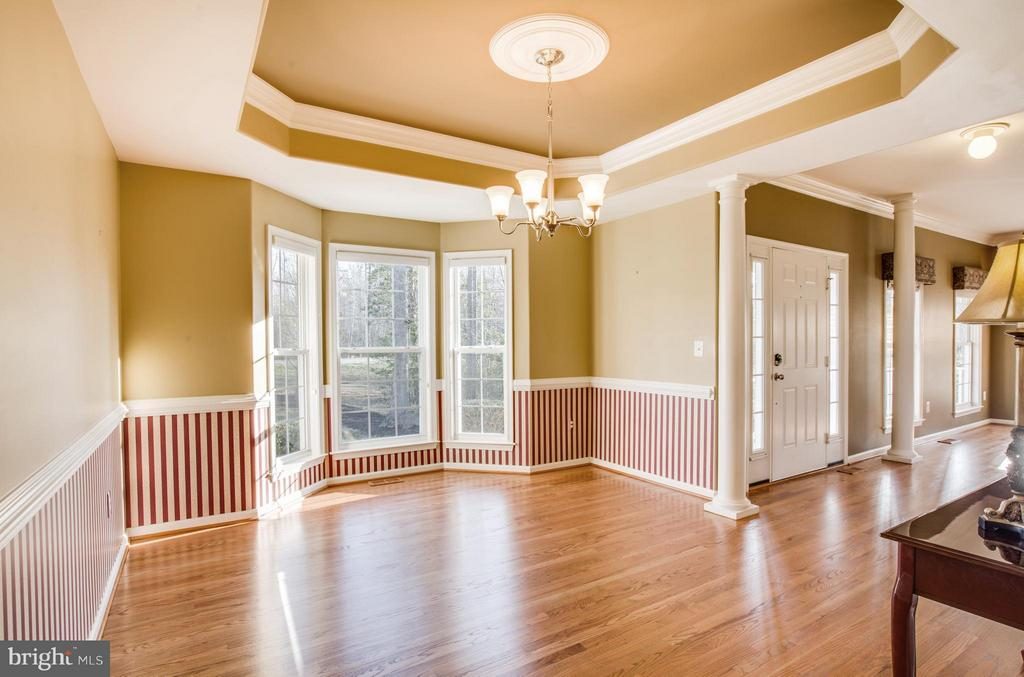 Tray ceiling, crown and chair molding, bay window - 229 SAINT MARYS LN, STAFFORD