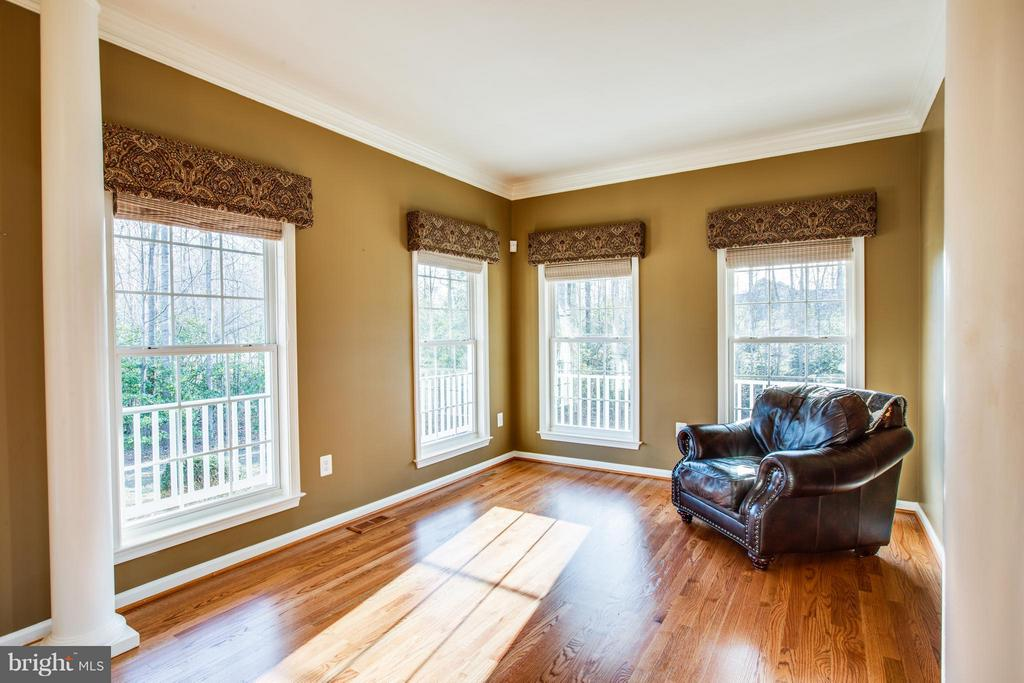 Stately columns accentuate the living room. - 229 SAINT MARYS LN, STAFFORD