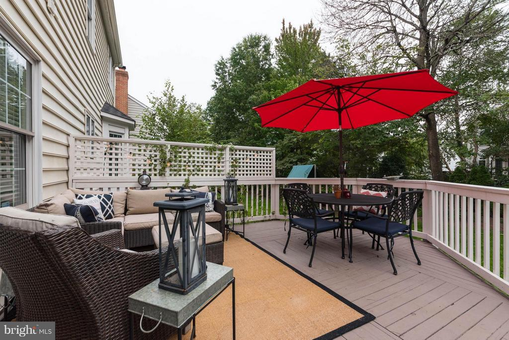 Spacious Deck - 43345 ROYAL BURKEDALE ST, CHANTILLY