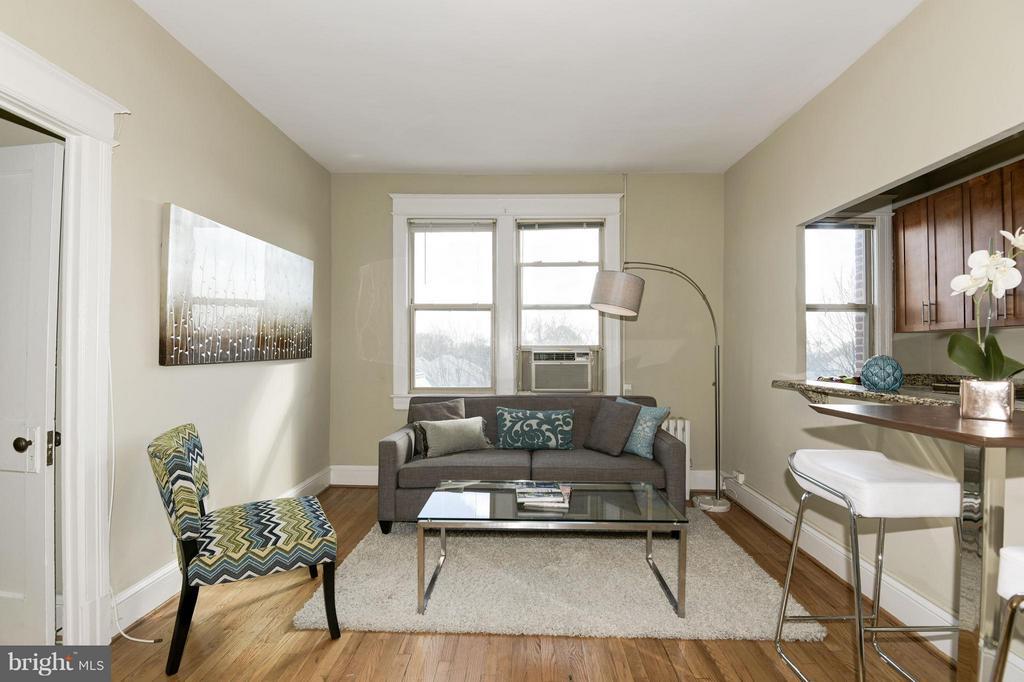 Living Room - 6645 GEORGIA AVE NW #302, WASHINGTON
