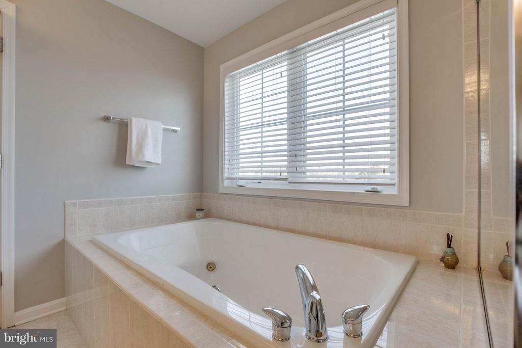 Master Bathroom with Soaking Tub and Shower - 43812 CHURCHILL GLEN DR, CHANTILLY