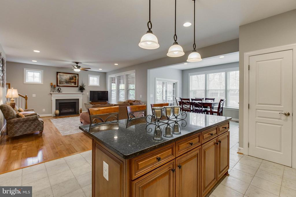Center Island Overlooking Family Room - 22344 HARRIER LN, LEESBURG