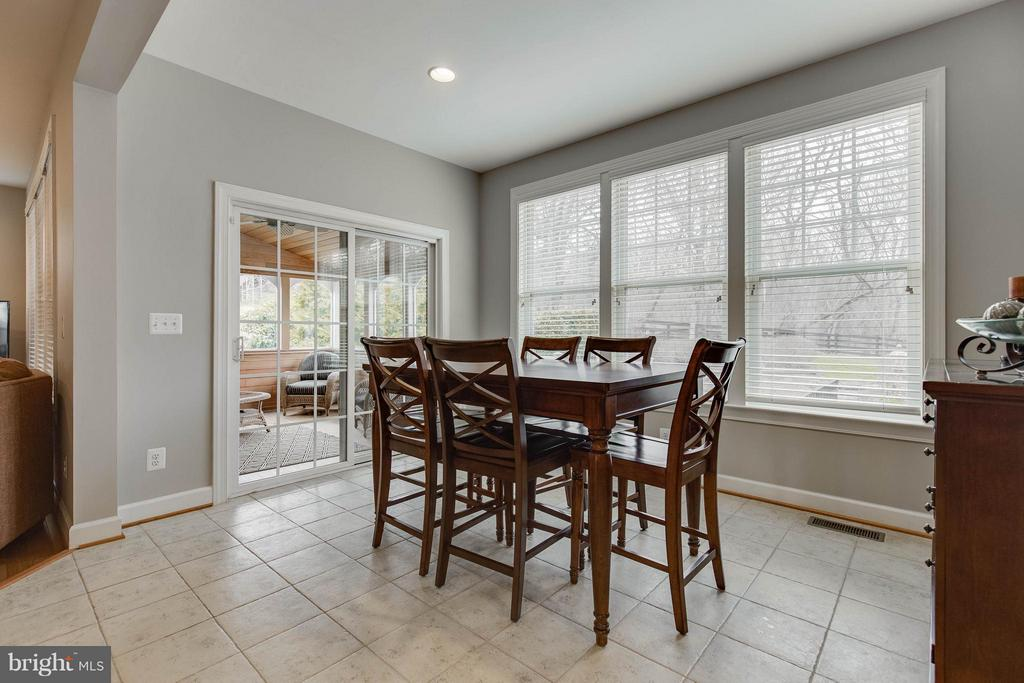 Breakfast Room with Access to 3 Season Sun Room - 22344 HARRIER LN, LEESBURG