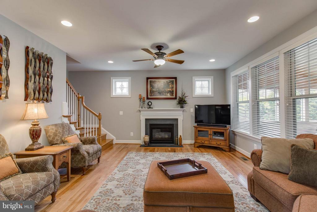 Cozy Family Room with Gas Fireplace - 22344 HARRIER LN, LEESBURG