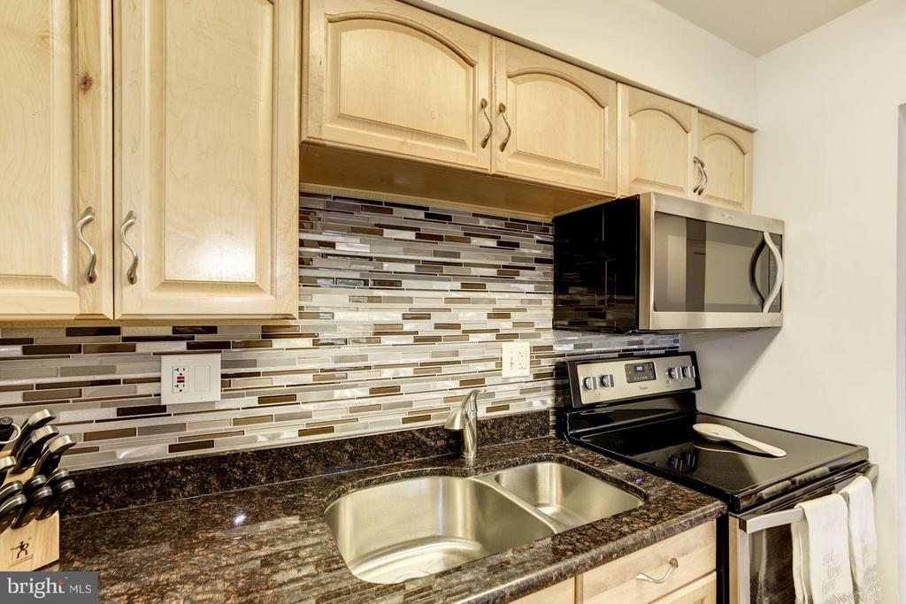 CUSTOM BACK SPLASH AND DOUBLE SINK! - 1808 OLD MEADOW RD #1403, MCLEAN