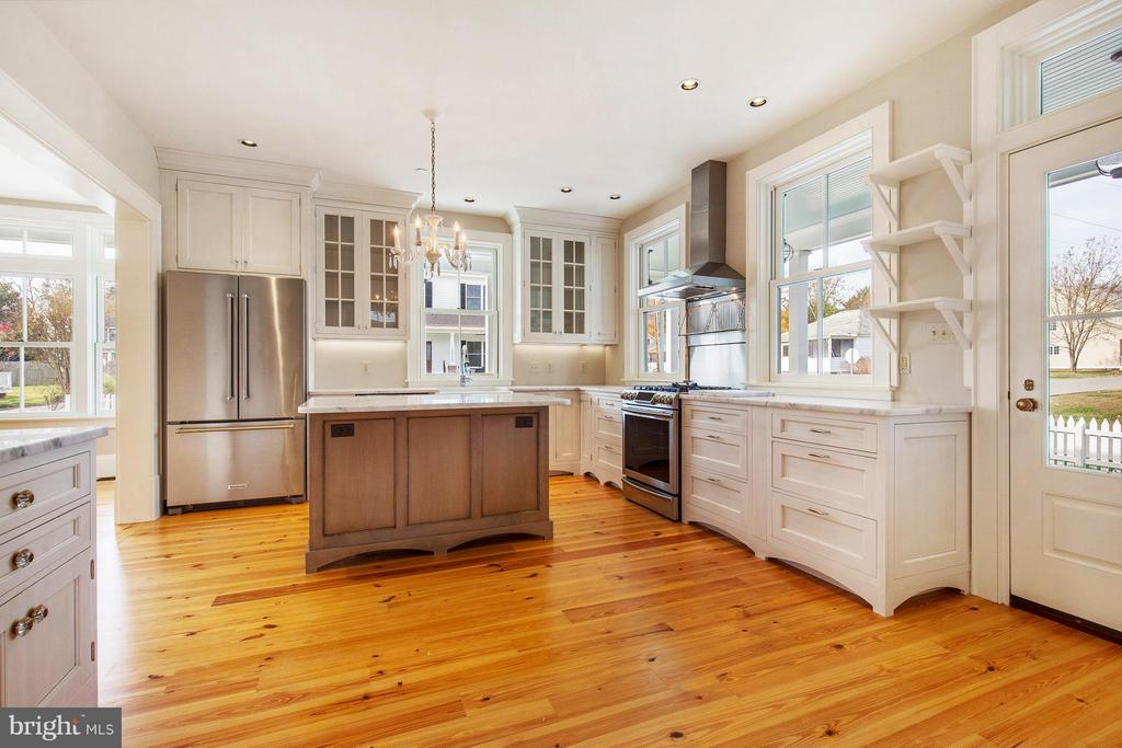 Custom cabinets with inset doors, vintage finish - 211 C ST, SOLOMONS