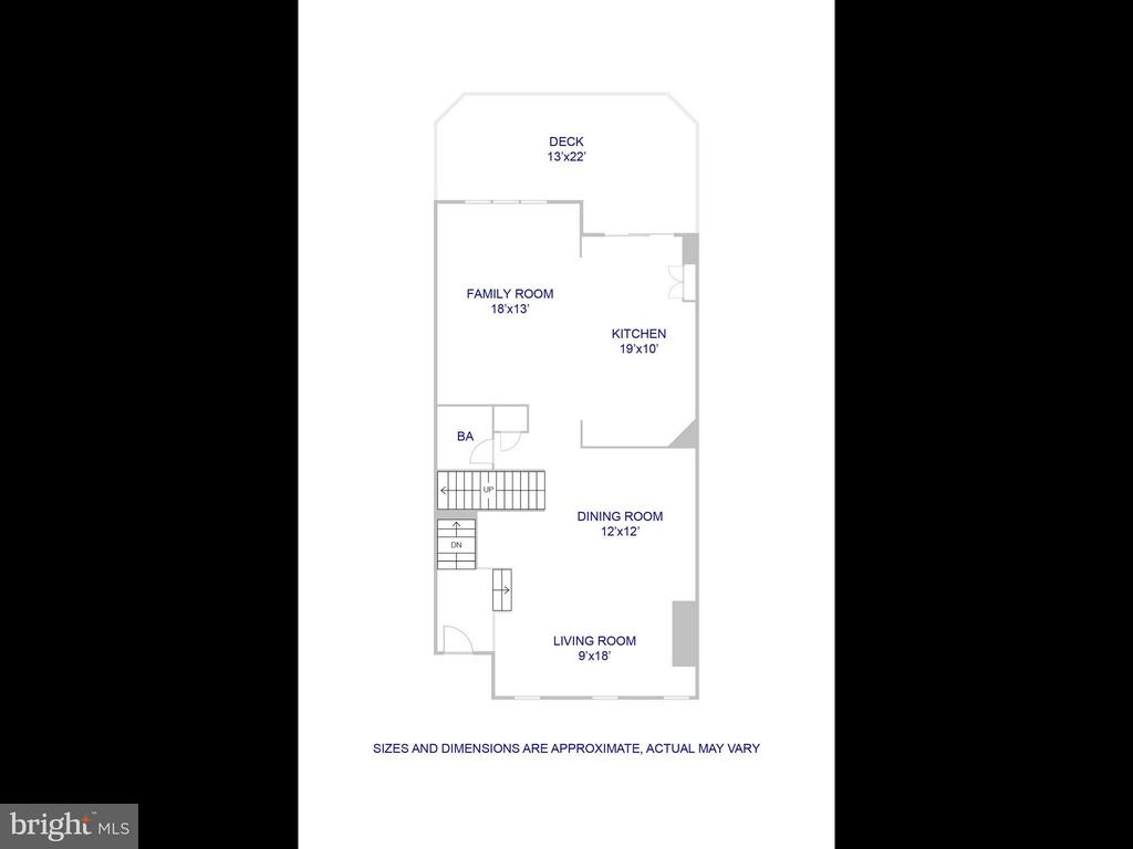 Main level floor plan - 5637 GOVERNORS POND CIR, ALEXANDRIA