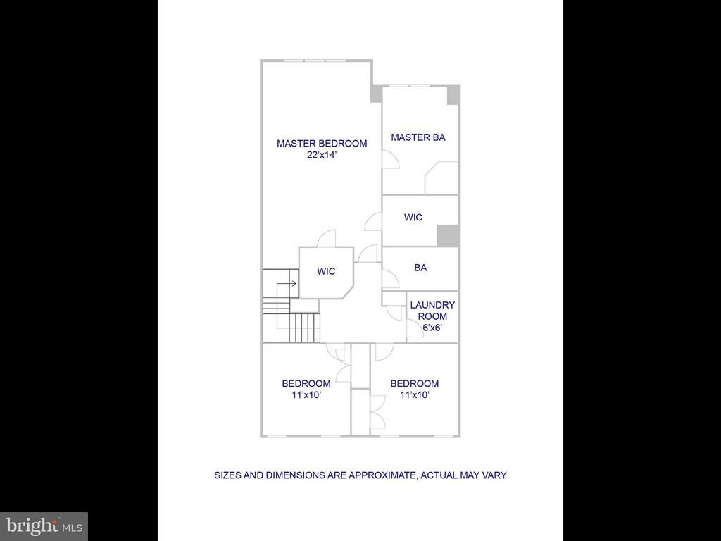 Upper level floor plan - 5637 GOVERNORS POND CIR, ALEXANDRIA