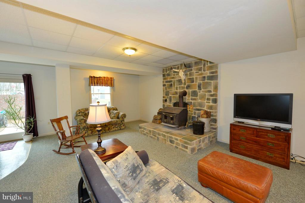 Recreation Room with Wood Stove - 450 DEER MOUNTAIN DR, HARPERS FERRY