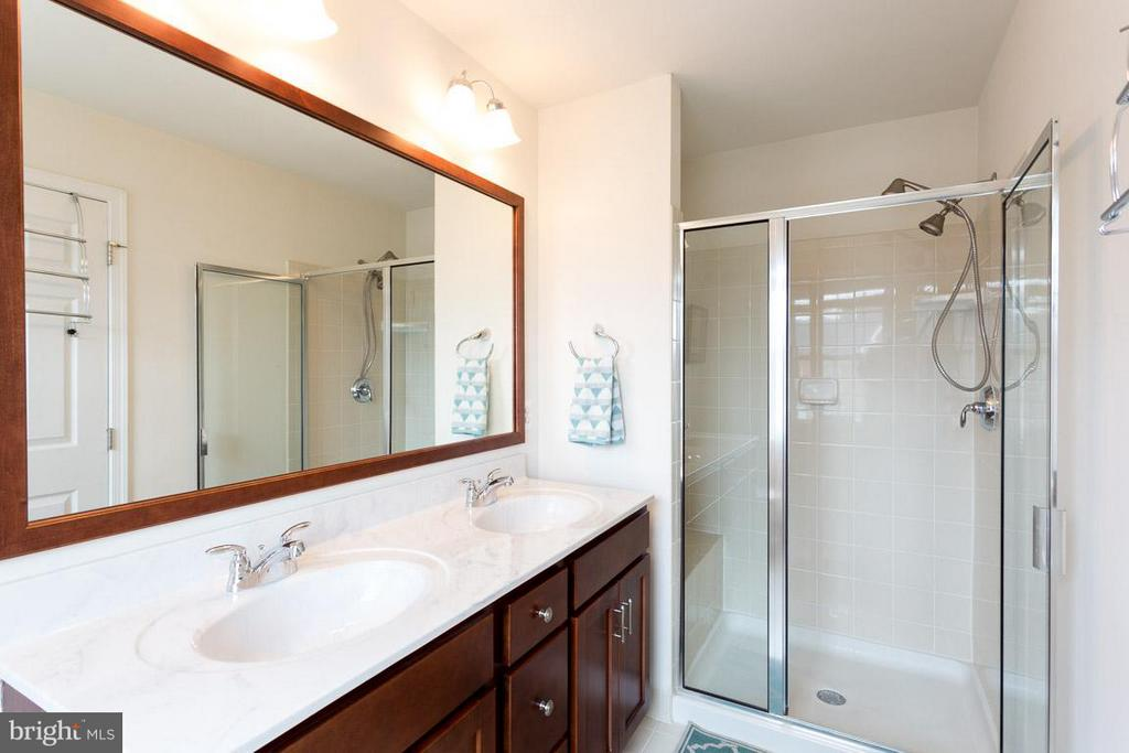 MASTER BATHROOM FEATURES DOUBLE VANITY - 23141 FLORA MURE DR, ASHBURN