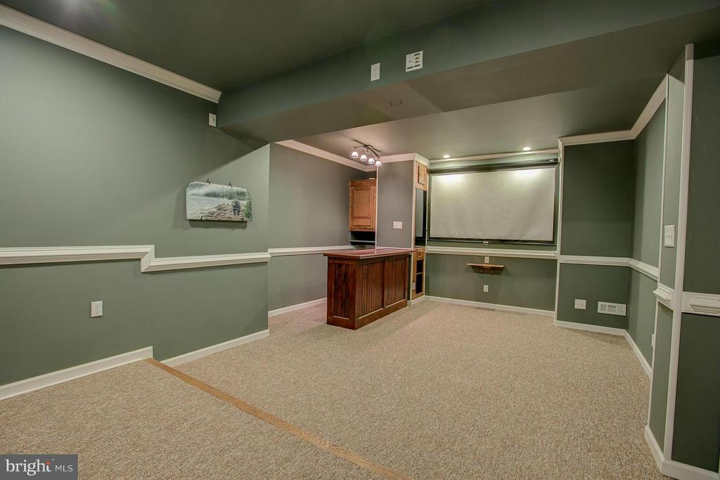 Movie Theater with Wet Bar - 23 CARDINAL DR, FREDERICKSBURG