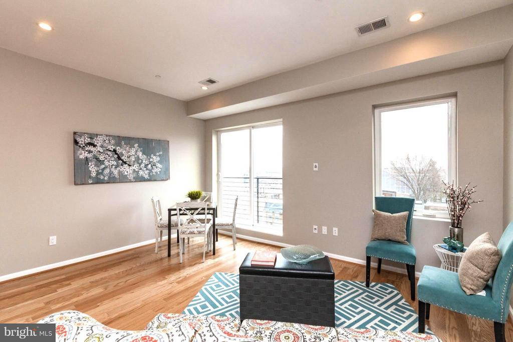 Open Living and Dining Room - 329 RHODE ISLAND AVE NE #404, WASHINGTON