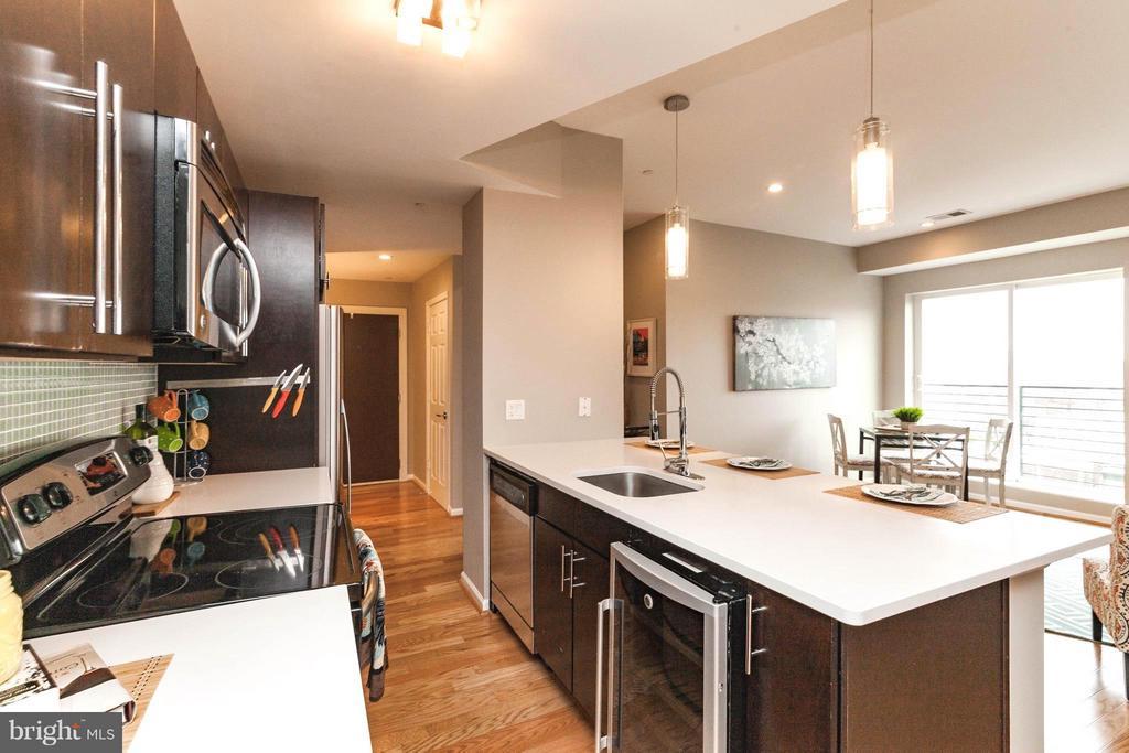 Featuring Stainless Appliances & Wine Fridge - 329 RHODE ISLAND AVE NE #404, WASHINGTON