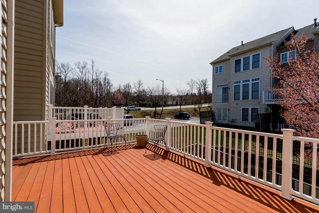 Expansive Treks Deck Off the Kitchen - 9638 PARSON MASSEY PL, LORTON