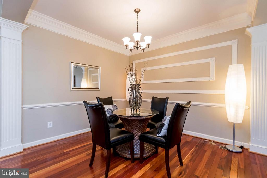 Dining Room with Custom Moldings - 9638 PARSON MASSEY PL, LORTON