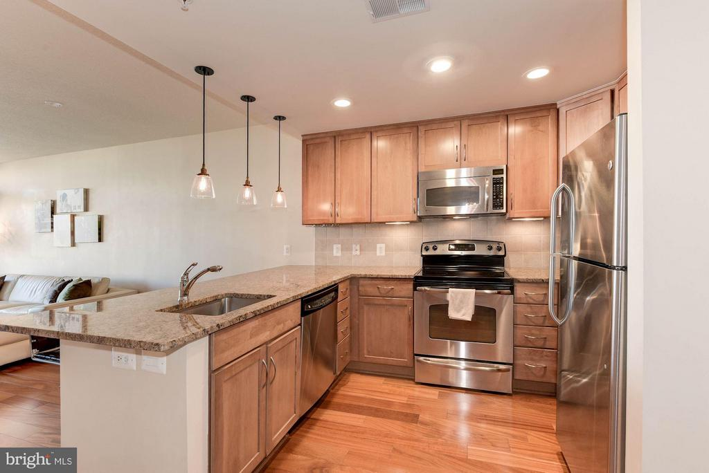 Granite countertops and stainless steel appliances - 888 QUINCY ST #1206, ARLINGTON