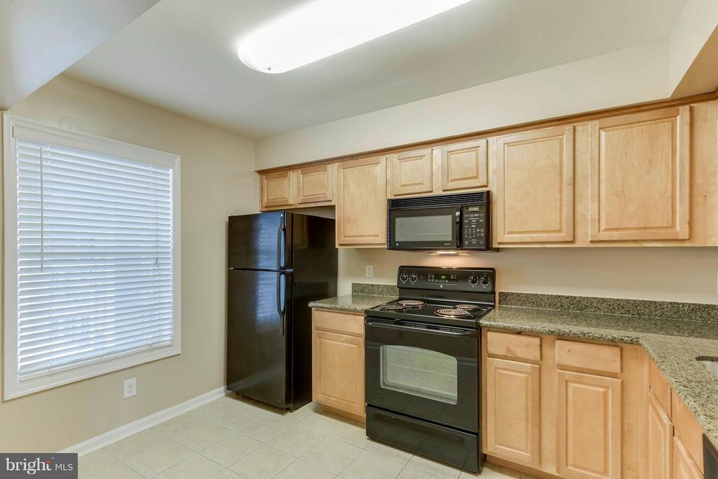 An abundance of countertop space!  It's granite!! - 3179 SUMMIT SQUARE DR #2-D6, OAKTON