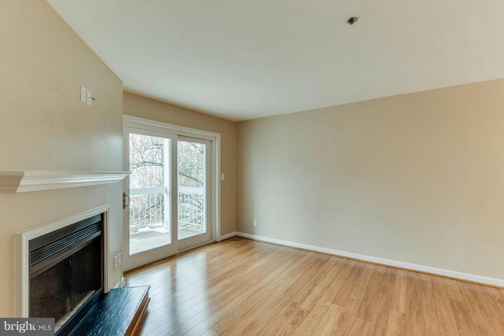Awesome fireplace and patio doors! - 3179 SUMMIT SQUARE DR #2-D6, OAKTON