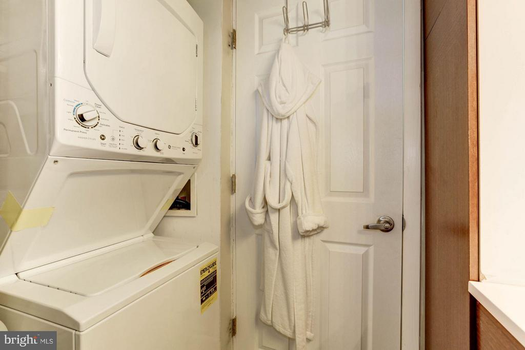 Laundry in Master Bath - 1843 MINTWOOD PL NW #110, WASHINGTON