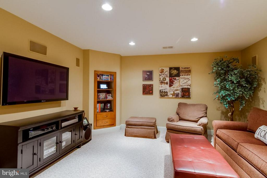 Lower Level Media Room/ Study - 12704 THUNDER CHASE DR, RESTON