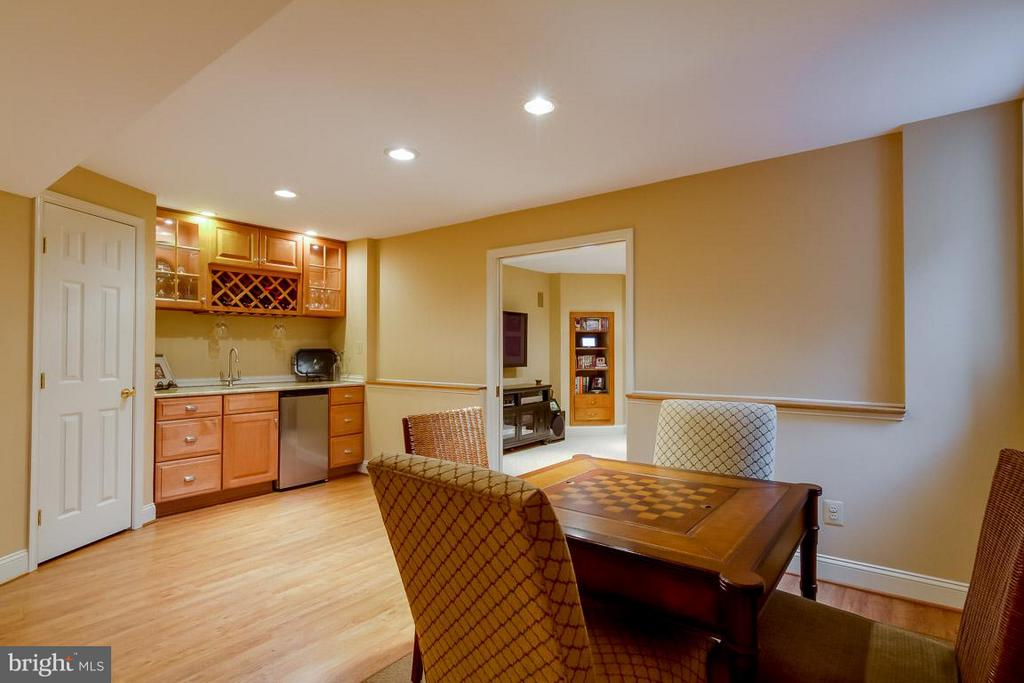Lower Level Recreation Table Area & Wet Bar - 12704 THUNDER CHASE DR, RESTON
