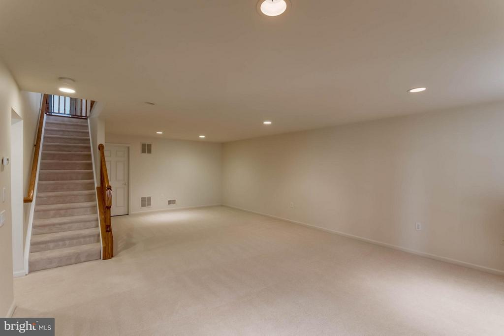 Large basement rec room - 8 DAYTON CIR, FREDERICKSBURG