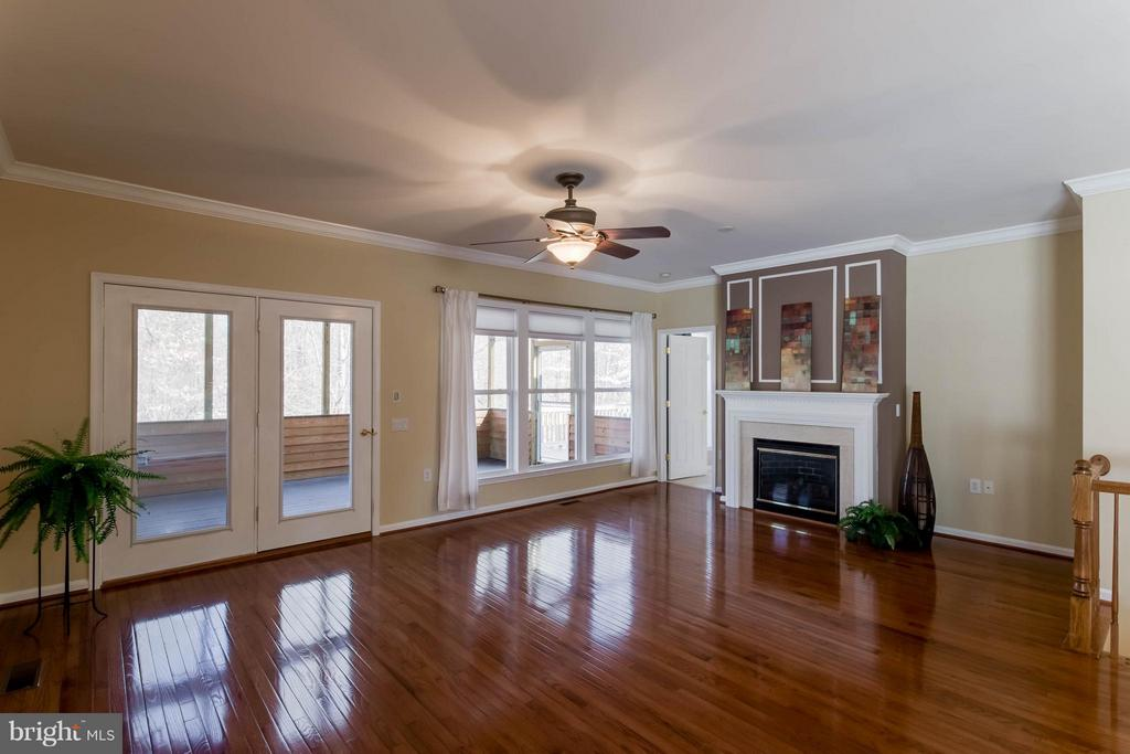 Cozy fireplace and french doors to covered porch - 8 DAYTON CIR, FREDERICKSBURG