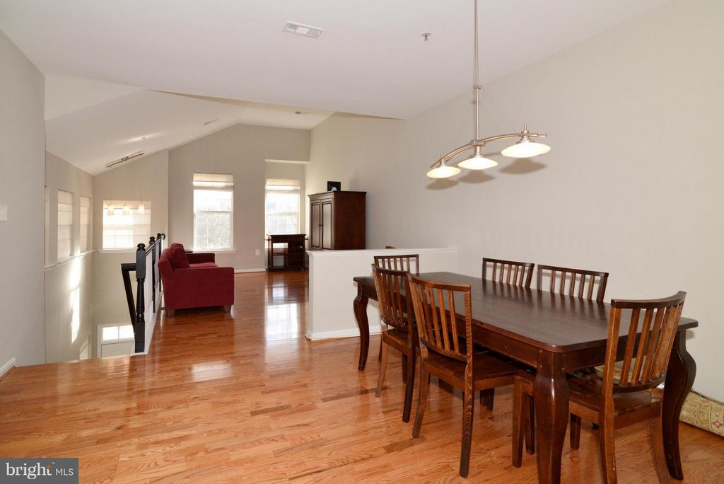 Dining room and living room - 11406J WINDLEAF CT #9, RESTON