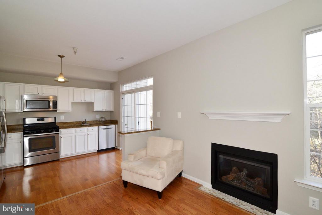 Family Room off of the kitchen - 11406J WINDLEAF CT #9, RESTON