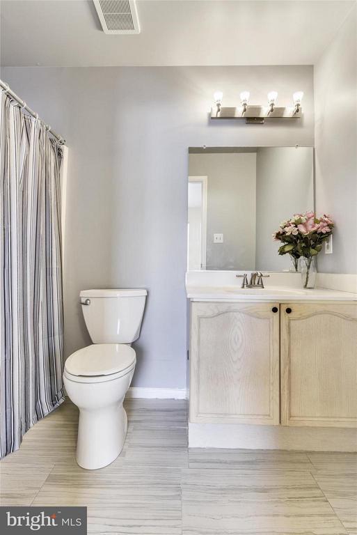 Master Bath #2 - New Tile Floor and Lighting - 508 COVINGTON TER NE, LEESBURG