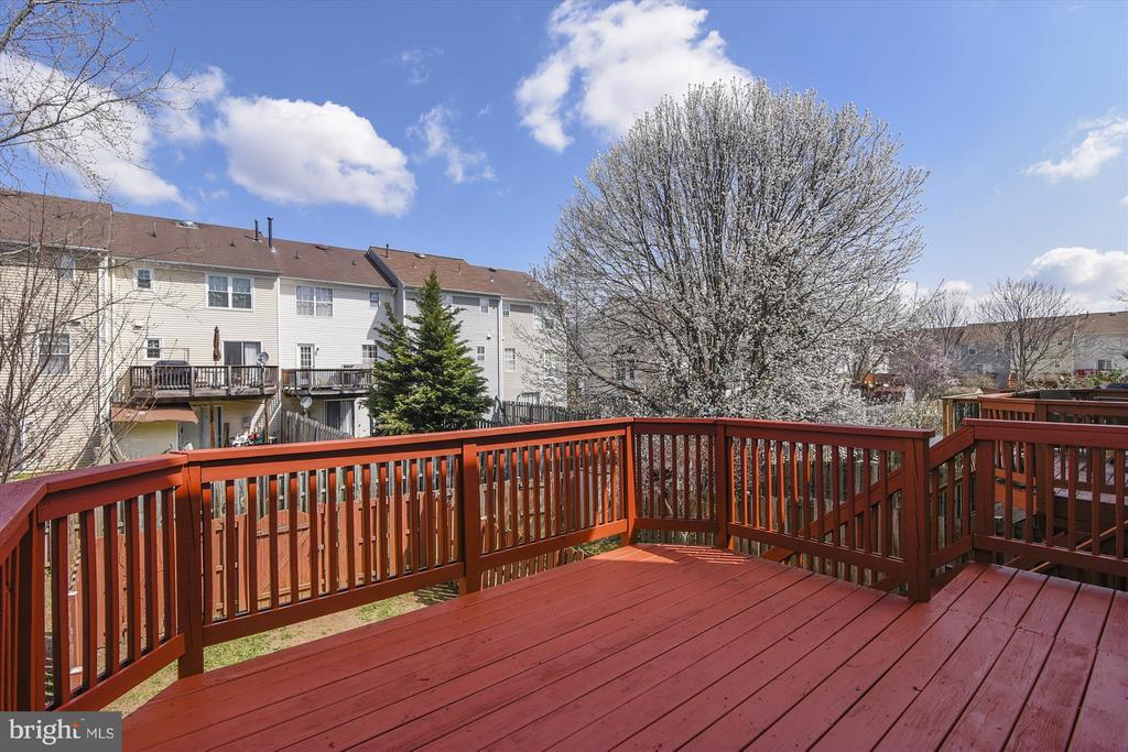 Freshly Stained Deck Perfect for BBQs - 508 COVINGTON TER NE, LEESBURG