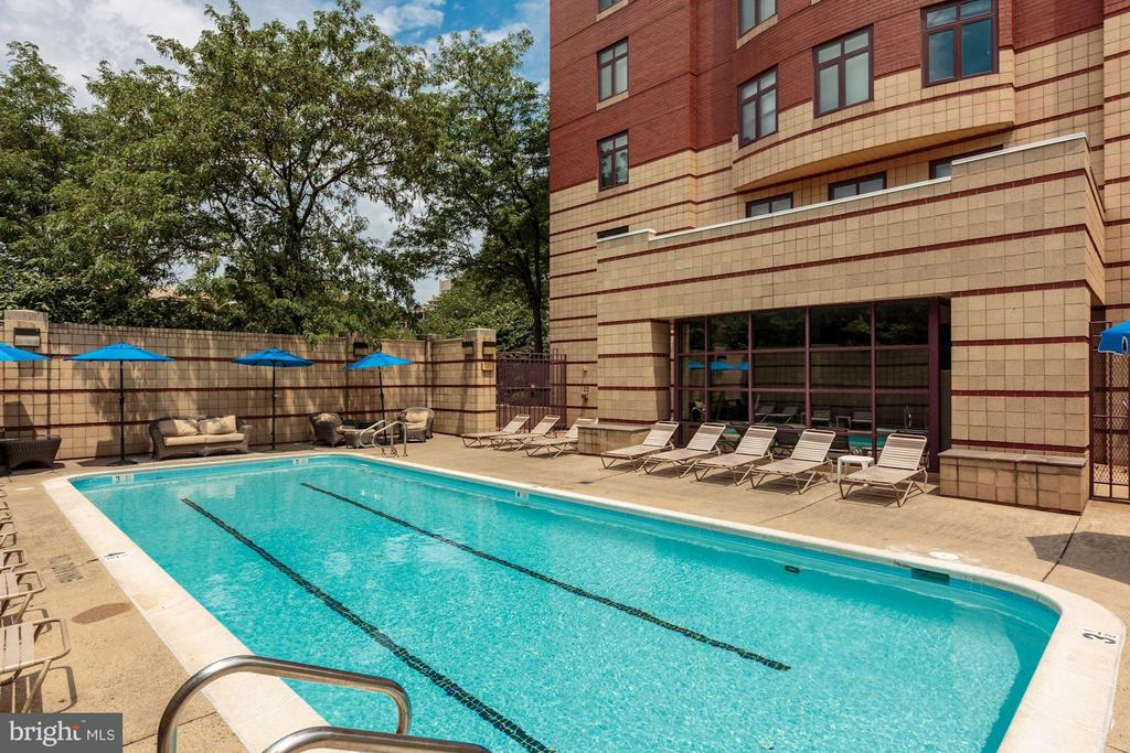 Outdoor pool - 2400 CLARENDON BLVD #310, ARLINGTON