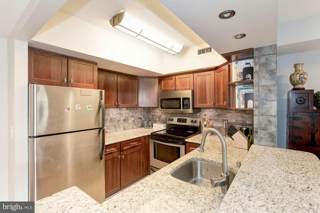Fully renovated kitchen - 2400 CLARENDON BLVD #310, ARLINGTON